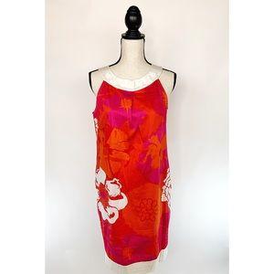 DONNA MORGAN Mod Retro Shift Dress Floral Sz 8